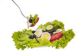 Lettuce and salad isolated — Foto Stock