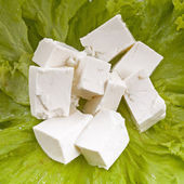 Lettuce and feta cheese — Foto de Stock