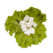 Lettuce and feta cheese — Foto Stock