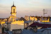 Clock tower in Chernivtsi city — Foto de Stock