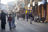 Crowded street in Main Bazaar or Paharganj — Stockfoto
