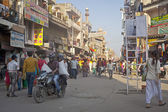 Crowded street in Main Bazaar or Paharganj — Foto Stock