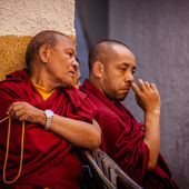 Tibetian monks — Stock Photo