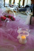 Pink Table — Stock Photo