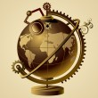 Stock Vector: Steampunk vector globe