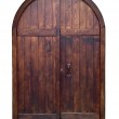 Old wooden door isolated — Stock Photo #45155589