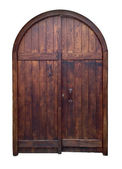Old wooden door isolated — Stock Photo