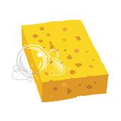 Yellow sponge — Stock Vector
