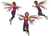 Flying faery set — Stock Photo