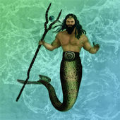 Poseidon the god of the sea — Stock Photo
