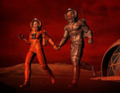 Love and sand storm on Mars — Stock Photo