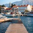 Stock Photo: Wooden pier on island of Hvar
