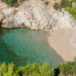 Beautiful little cove with clear water — Stock Photo