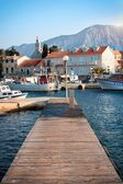 Wooden pier on the island of Hvar — Stock Photo