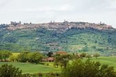 The view to the town of Pienza - Tuscany — Stock Photo