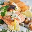 Roast salmon - fish — Stock Photo #13723809