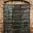 The door of an ancient — Stock Photo