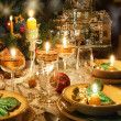 Christmas dinner table with christmas mood — Stock Photo #14899381
