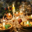 Christmas dinner table with christmas mood — Stock Photo #16080745