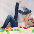 Mother playing with her son — Stock Photo