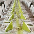 Tables are for festivities — Foto Stock