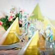Festive table setting — Stock Photo