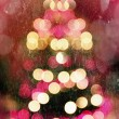 Abstract christmas tree with falling snow — Stock Photo
