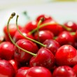 Sweet cherries as a background — Stock Photo