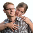 Young couple on white background — Stock Photo #30189247