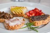 Bruschetta - shallow dof — Stock Photo