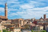 The historic city of Siena in Tuscany — Stock Photo