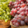 Stock Photo: Grapes of different varieties