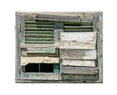 Old boarded up window — Stock Photo