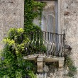 Old balcony in Tuscany — Stock Photo