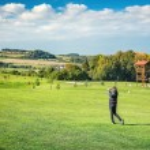 Golfer women — Stock Photo
