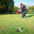 Stok fotoğraf: Final blow at golf tournament