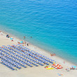 Beautiful beach in Scilla, southern Italy, Calabria region — Stock Photo #35121609