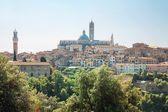 Historické město siena v toskánsku — Stock fotografie