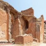 Ruins of the Greek Roman Theater, Taormina, Sicily, Italy — Stock Photo #50253651