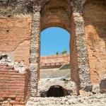Ruins of the Greek Roman Theater, Taormina, Sicily, Italy — Stock Photo #50253661