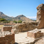 Ruins of the Greek Roman Theater, Taormina, Sicily, Italy — Stock Photo #50253663