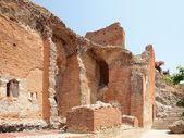 Ruins of the Greek Roman Theater, Taormina, Sicily, Italy — Stock Photo