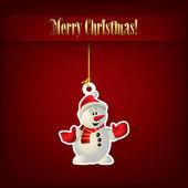 雪だるまのクリスマスの挨拶を抽象化します。 — ストックベクタ
