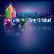 Abstract Christmas background with candles - Vettoriali Stock