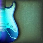 抽象的な背景がひびの入ったエレク トリック ギター — ストックベクタ