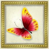 Abstract grunge background avec papillon — Vecteur
