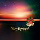 Abstract Christmas greeting with handbells — Stock Vector