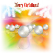 Abstract Christmas background with decorations — Stock Vector #27536251