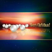 абстрактный фон с рождественские украшения — Cтоковый вектор