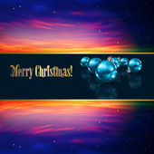 Abstract Christmas greeting with decorations and stars — Stock Vector